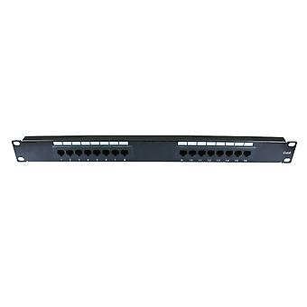 16 port cat 6 patch panel gigabit ready rack mounted krone type