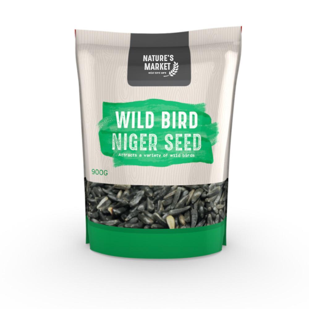 Natures Market 0.9kg (2 lbs) Bag of High Energy Niger Seed Feed Wild Bird Food