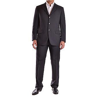 Burberry Ezbc001012 Männer's schwarze Wolle Anzug