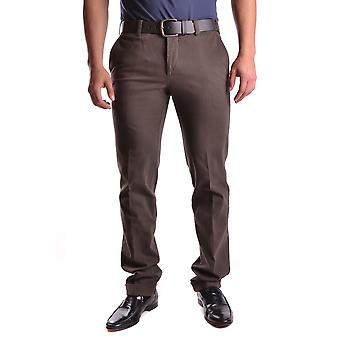 Pt01 Ezbc084005 Men's Brown Cotton Pants