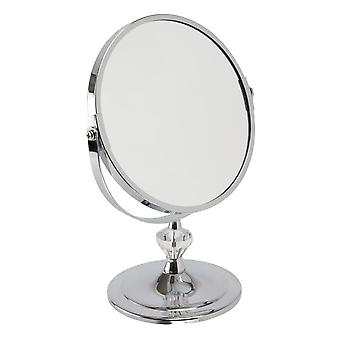 FMG 16 cm 3x magnification round double sided cosmetic mirror