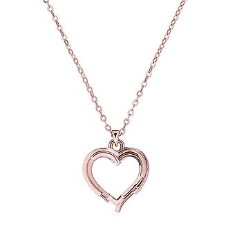 Ted Baker Laya Layered Heart Pendant- Rose Gold
