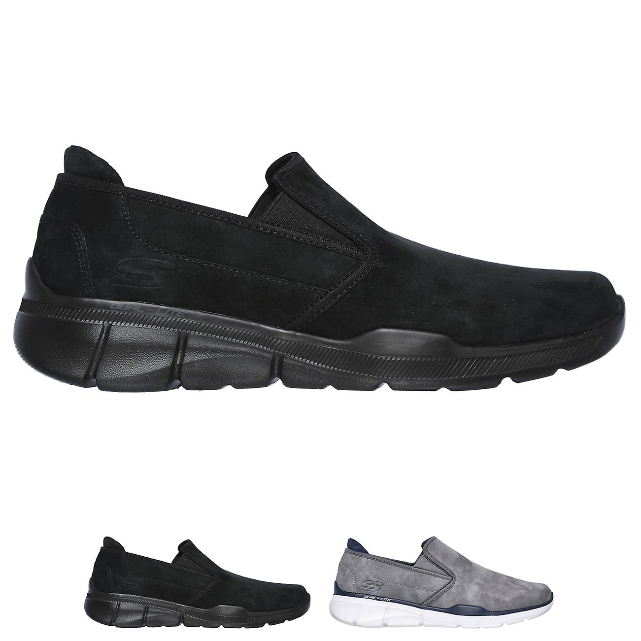 skechers relaxed fit memory foam trainers