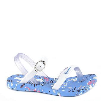 صندل ايبانيما للأطفال أزرق أبيض من الزهرة