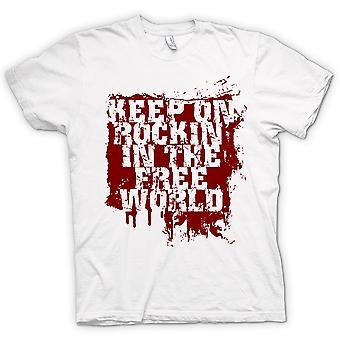 T-shirt des hommes - Keep On Rockin dans le monde libre