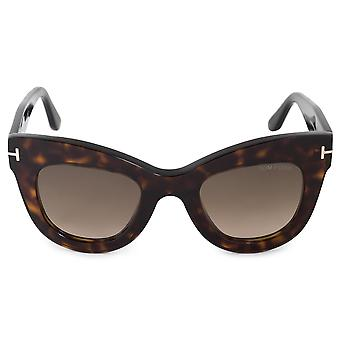 Tom Ford Karina-02 FT0612 52K 47 Cat Eye Sunglasses