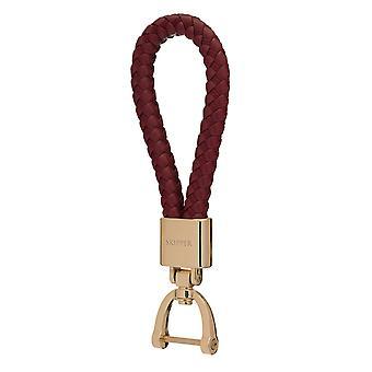 Skipper riipus avaimen perä nahka/Nylon kulta/Bordeaux 8055