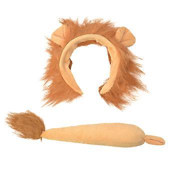 Bristol nyhet barnas/barn løve ører og hale tilbehør sett