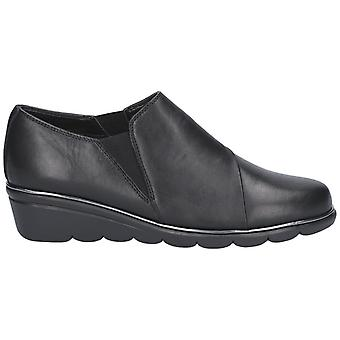 The Flexx Womens/Ladies Boost Leather Slip-on Shoe