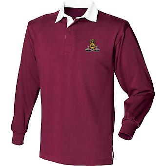 Lancashire Fusiliers - lizenzierte britische Armee bestickt Langarm Rugby Shirt