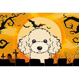 Carolines Treasures  BB1816PLMT Halloween Buff Poodle Fabric Placemat