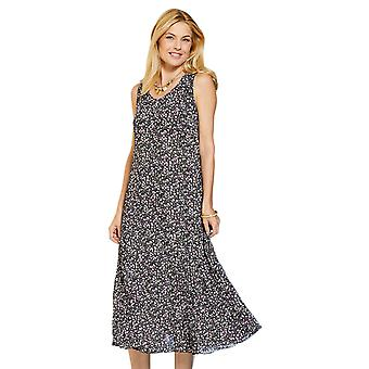 Amber Ladies Reversible Dress Crinkle Polyester Georgette