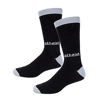 Socks - Archie McPhee - Atheist Black and Gray Men's New 12805