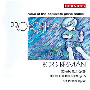 S. Prokofiev - Prokofiev: Vol. 3 de Complete Piano Music [CD] USA import
