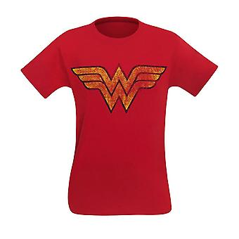 Wonder Woman Distressed Symbol Hommes-apos;s T-Shirt
