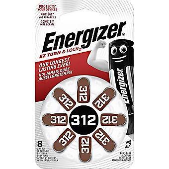 Energizer aparelho auditivo PR41 botão celular ZA312 zinco ar 160 mAh 1,4 V 8 PC (s)