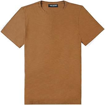 Neil Barrett Brown Plain Jersey T-Shirt