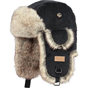 Barts Womens Rib Bomber Soft Faux Fur Corduroy Trapper Hat