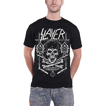 Slayer T Shirt Skull and Bones Revised Soldier Band Logo Official Mens New Black