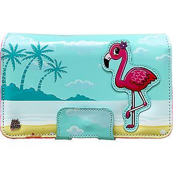 Flamingo avoin ja pelata suojaava kanto laukku (Nintendo 2DS XL)