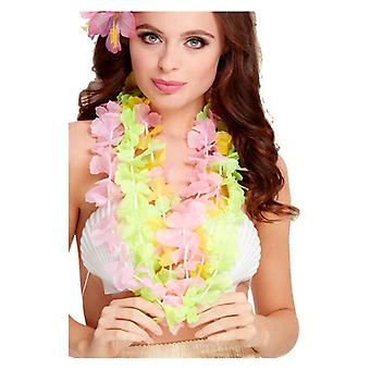 Womens Multi Coloured Hawaiian Lei Fancy Dress Accessory