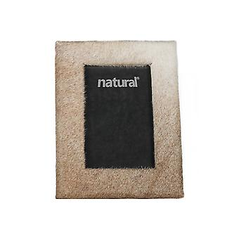 """11"""" x 13"""" Natural Cowhide   8"""" x 10"""" Picture Frame"""