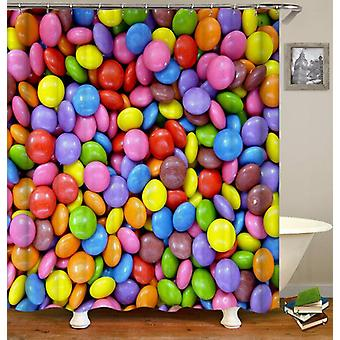 Colorful Chocolate Candy Shower Curtain