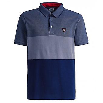 GUESS Alec Colour Block Polo Shirt