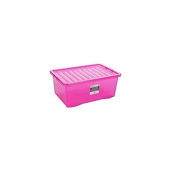 Wham Paquete de almacenamiento de 5 - 45 litros de cristal cajas de almacenamiento de plástico y tapas