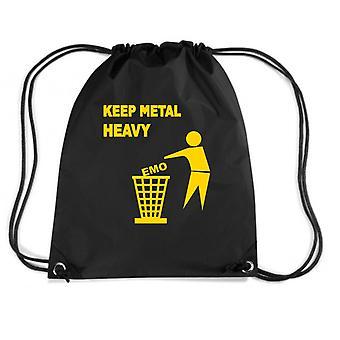 Black backpack fun2255 keep metal heavy