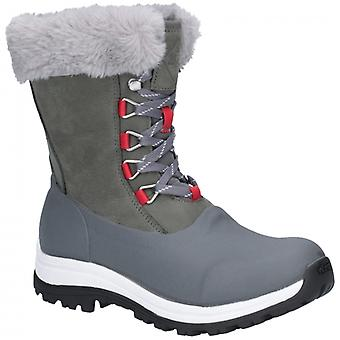 Muck Boots Arctic Apres Lace Ladies Waterproof Boots Grey/red
