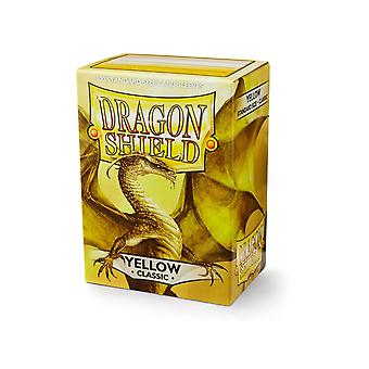 Dragon Shield 100ct Box Deck Protector Classic Yellow (Pacchetto di 10)