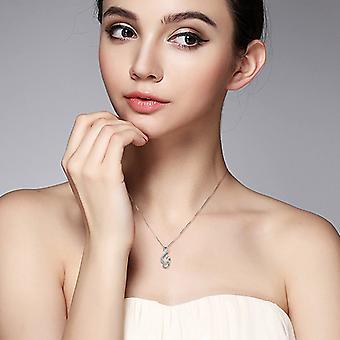 925 Sterling Silber Musiknote Halskette