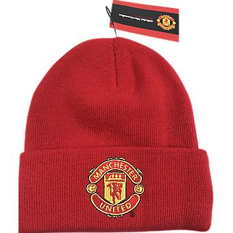 New era unisex licensed manchester united cuff knit ski hat beanie - red