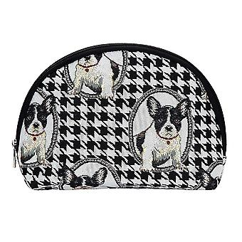 French bulldog big cosmetic bag by signare tapestry / bgcos-fren