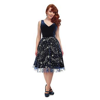Collectif Vintage vrouwen ' s Ara Stardust Swing jurk