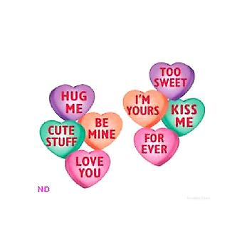 """14"""" Candy Heart Cut-Outs pack of 4"""