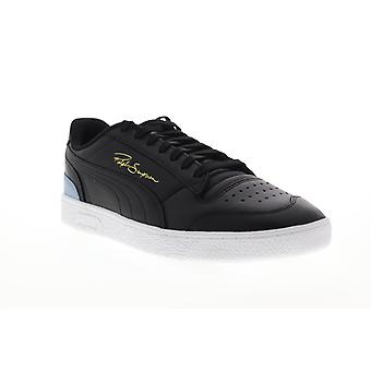 Puma Ralph Sampson LO  Mens Black Leather Low Top Sneakers Shoes