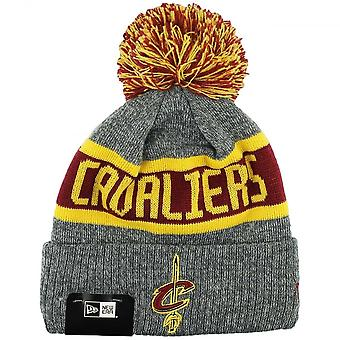 New Era Nba Cleveland Cavaliers Youth Marl Cuff Bobble Knit
