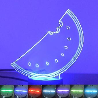 Slice of Watermelon Colour Changing LED Acrylic Light