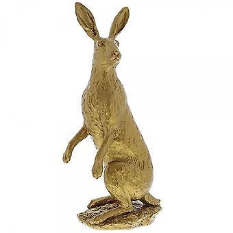 Border Fine Arts Hare grote gouden beeldje