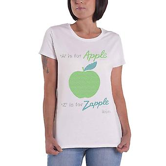 The Beatles A Is For Apple New Official Womens New White Skinny Fit T Shirt