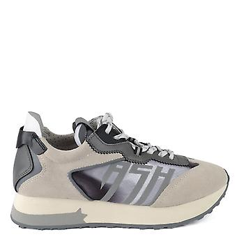 Ash Footwear Tiger Grey Suede And Nylon Trainer