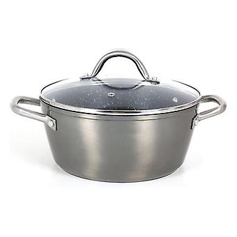 Casserole with glass lid Quttin Toughened aluminium Grey