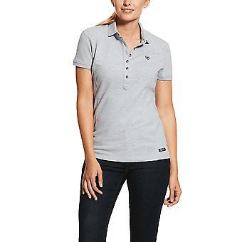 Ariat Womens Prix 2.0 Tricou polo cu mânecă scurtă - Heather Grey