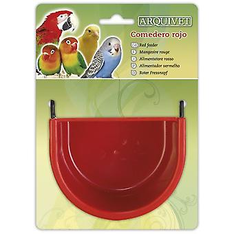 Arquivet Trough red 11,5x8x8 cm (Birds , Feeders & Water Dispensers , For Cages)