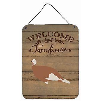 Jersey Buff Turkey Hen Welcome Wall or Door Hanging Prints