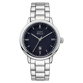 Jack Wills Watches Jw010blss Raleigh Navy Blue & Silver Stainless Steel Ladies Watch
