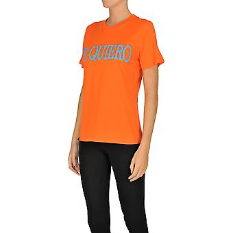 Alberta Ferretti Ezgl095022 Dames's Oranje Katoen T-shirt