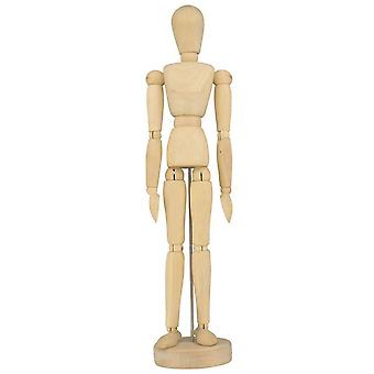 Artists Wooden Lay Figure Manikin 12""